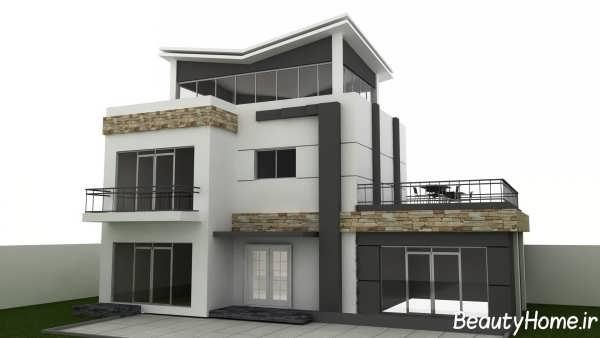 نمای شیک و متفاوت ساختمان