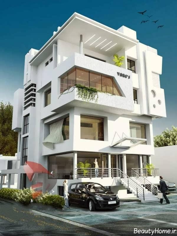 3d Exterior House Designs: عکس های طراحی نمای ساختمان های مدرن و لوکس