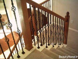 نرده راه پله زیبا و متفاوت