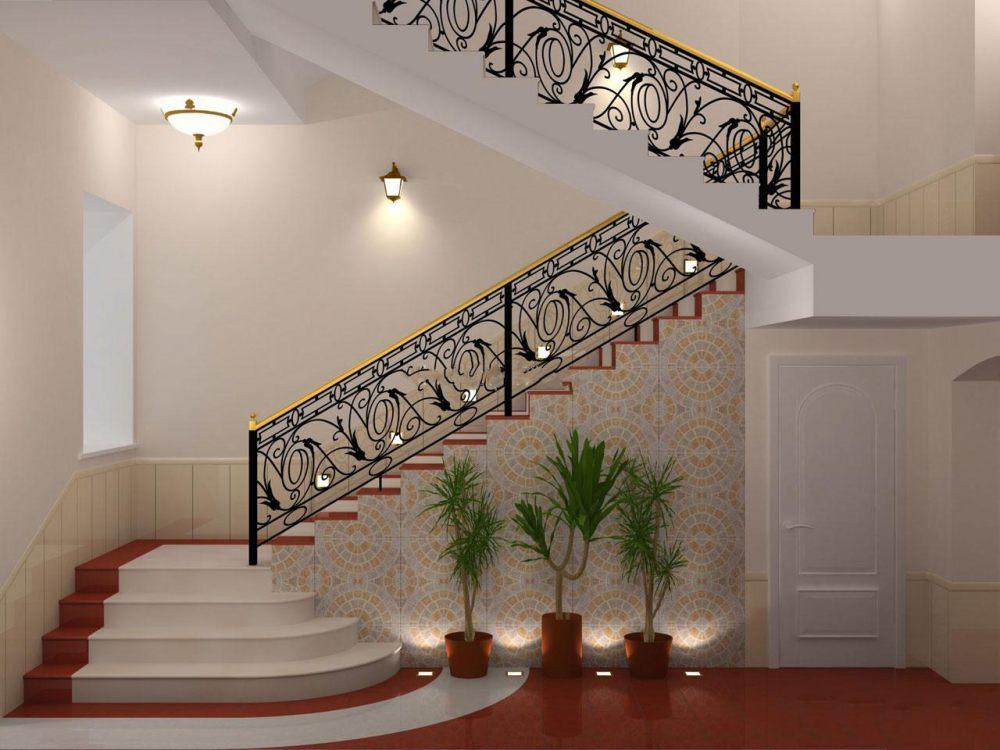 مدل نرده راه پله با انواع طرح های چوبی و استیل