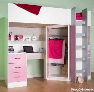 تخت و کمد برای نوجوانان دختر