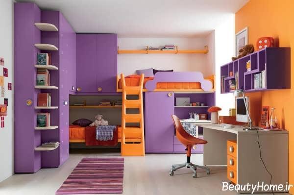 تخت و کمد با طراحی متفاوت برای نوجوانان