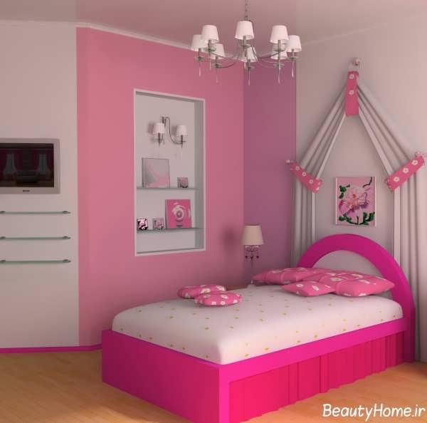 تخت و کمد زیبا و مدرن برای نوجوان