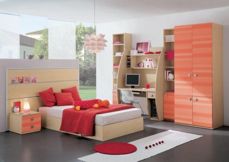 تخت و کمد نوجوان با طراحی کاربردی