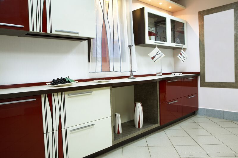 Mdf for Two colour kitchen units