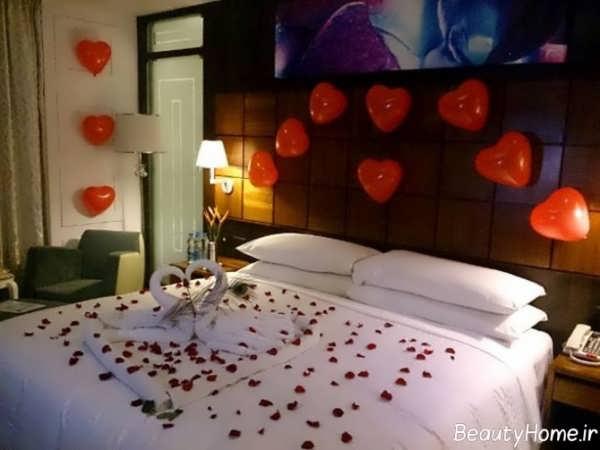 تزیین اتاق خواب عروس با گلبرگ