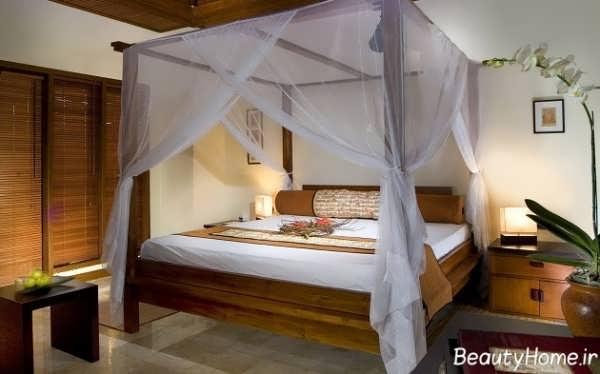 تزیین اتاق خواب با تور برای شب عروسی