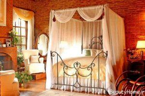 تزیین کردن اتاق خواب عروس با تور