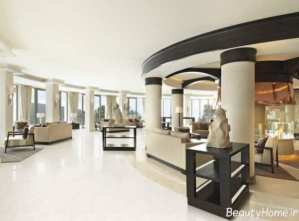 طراحی دکوراسیون لابی هتل