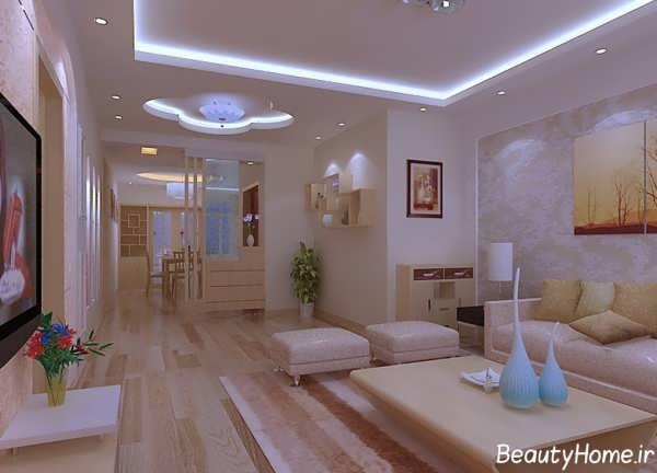 تصاویر انواع طرح کناف جدید و مدرن برای سقف
