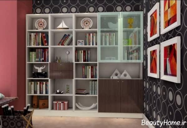 کتابخانه زیبا و متفاوت ام دی اف