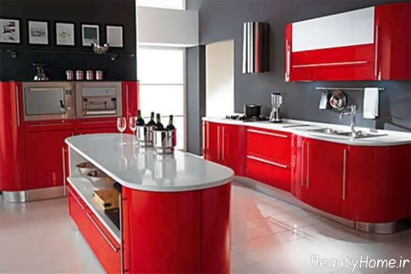 مدل کابینت ها با رنگ های ترکیبی