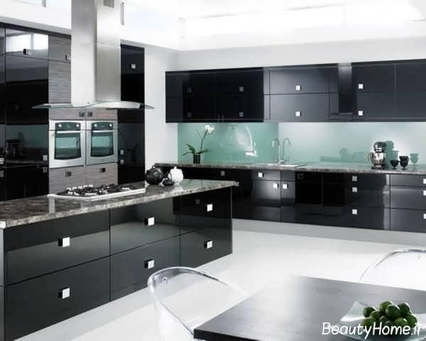مدل کابینت با رنگ مدرن برای آشپزخانه