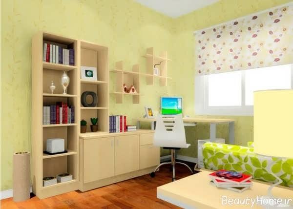 طراحی مدرن برای اتاق مطالعه
