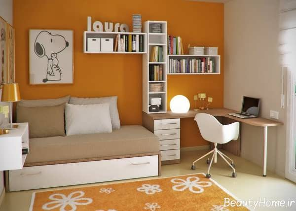 طراحی دکوراسیون اتاق مطالعه