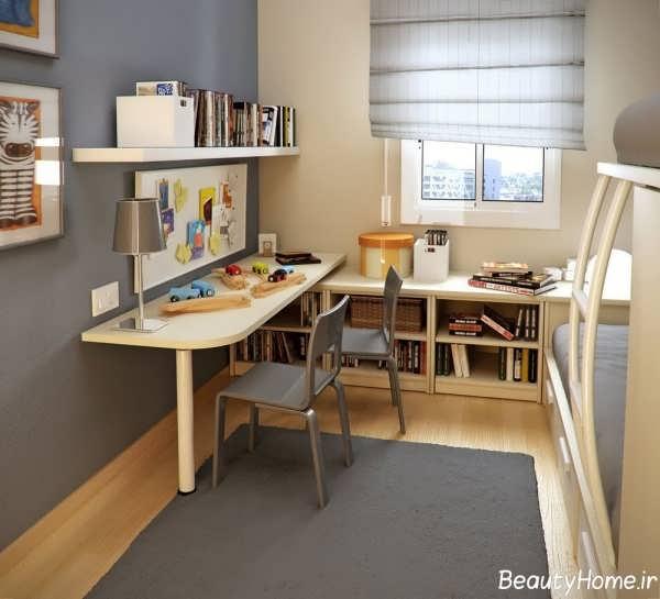 دکوراسیون اتاق مطالعه زیبا