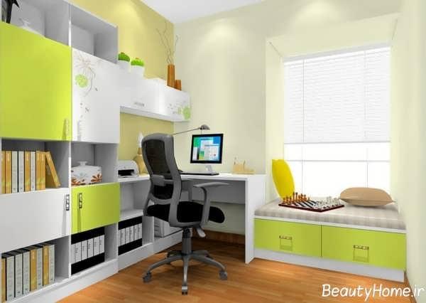 دکوراسیون زیبا اتاق مطالعه