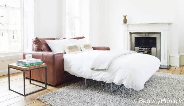مبلمان تختخواب شو زیبا دو نفره