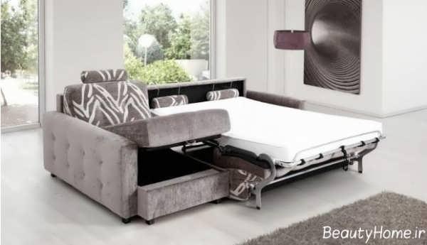 مبلمان های زیبا دو نفره تختخواب شو