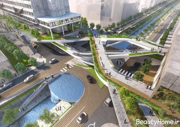 ایجاد کردن فضای سبز در بین راه ها