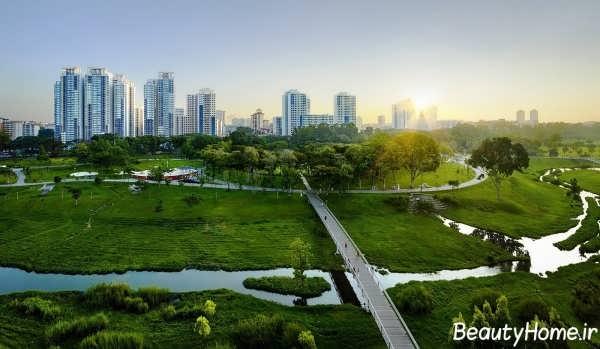 فضای سبز شهری زیبا و جذاب