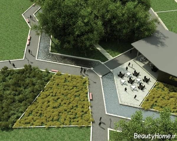 فضای سبز زیبا و جذاب شهری