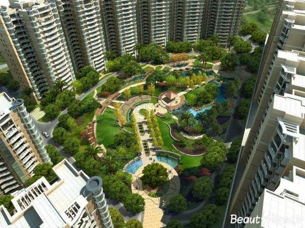 فضای سبز زیبا در درون شهر ها