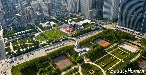 فضاهای سبز زیبا و متفاوت شهری