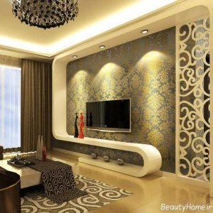 نورپردازی ایده آل بر روی دیوار پشت تلویزیون