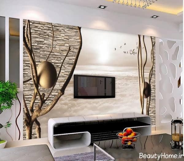 کاغذ دیواری با طرح بی نظیر برای پشت ال سی دی