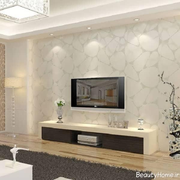 کاغذ دیواری ساده برای دیوار پشت تلویزیون