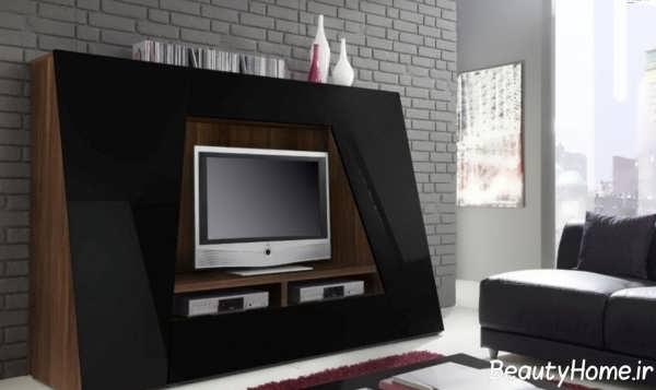 میز تلویزیون چوبی زمینی