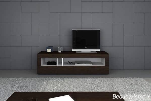 میز تلویزیون چوبی زیبا و مدرن