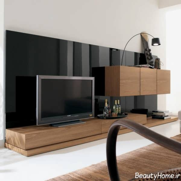 میز تلویزیون زمینی زیبا چوبی