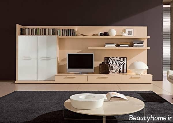 میز تلویزیون زیبا و جدید چوبی