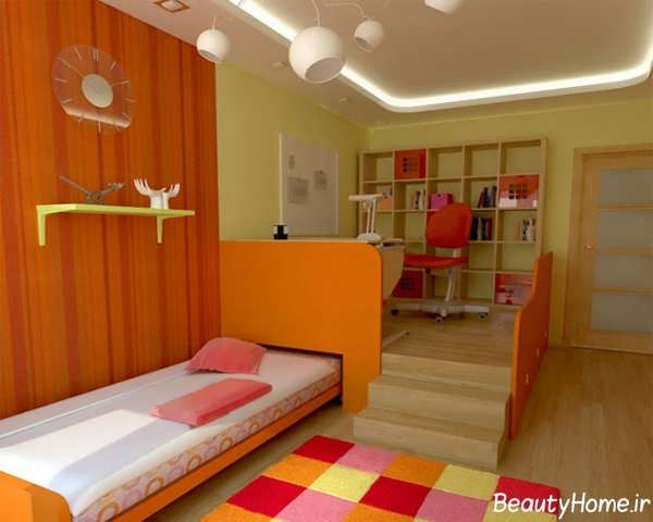 مدل اتاق خواب دخترانه با طراحی زیبا