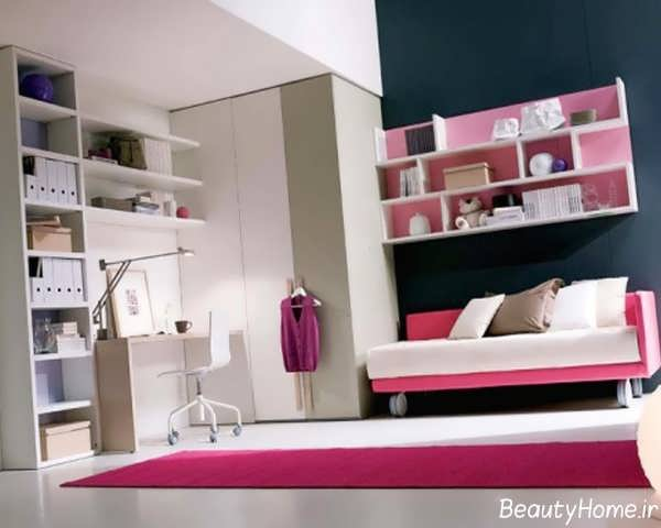 اتاق خواب دخترانه با طراحی شیک