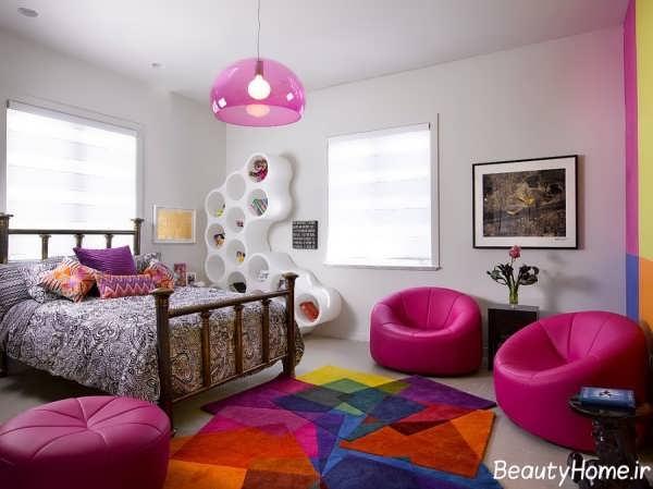 اتاق خواب دخترانه با دکوراسیونی متفاوت