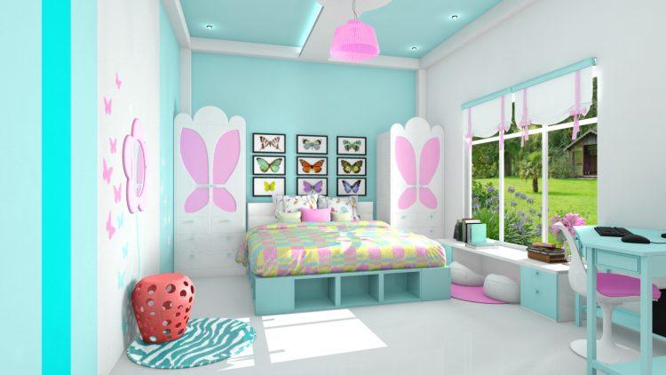 مدل اتاق خواب دخترانه زیبا و جدید