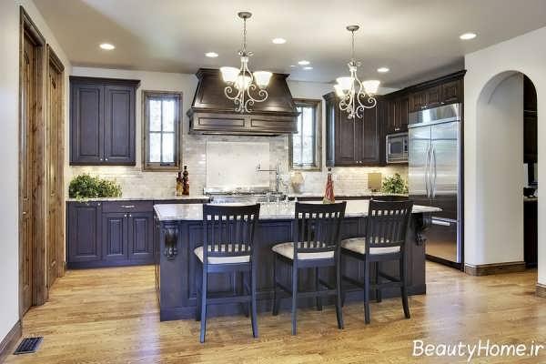 زیباترین نمونه های لوستر آشپزخانه