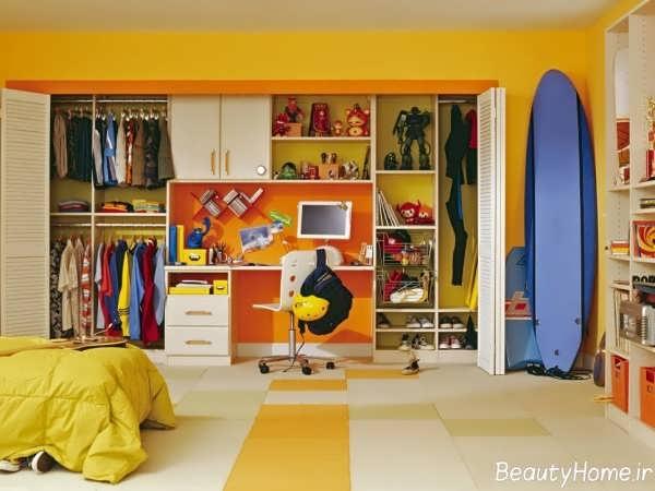 مدل کمد دیواری اتاق کودک