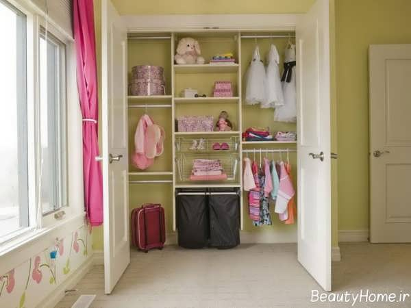 انواع طرح های کمد دیواری اتاق کودک