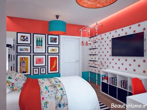 زیباترین طراحی دکوراسیون رنگی منزل