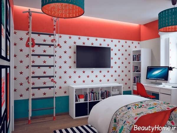 دکوراسیون رنگی اتاق خواب