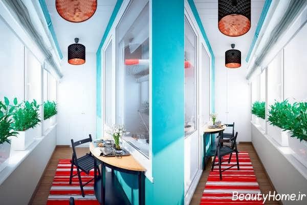 دیزاین دکوراسیون رنگی
