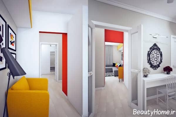 دکوراسیون زیبا رنگی برای منزل