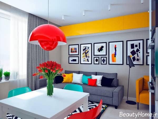 دکوراسیون رنگی برای خانه های آپارتمانی
