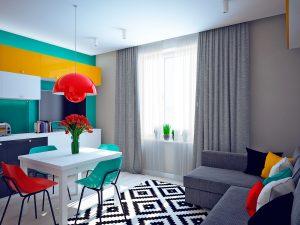 طراحی دکوراسیون رنگی منزل با ایده های متفاوت و شاد
