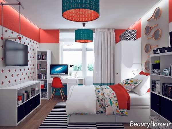 دکوراسیون رنگی برای اتاق خواب