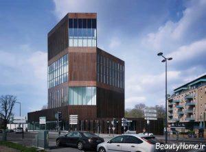 طراحی نمای ساختمان های چند طبقه تجاری